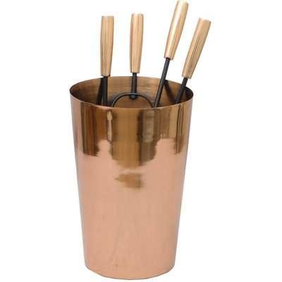 Contemporary Copper Companion Set