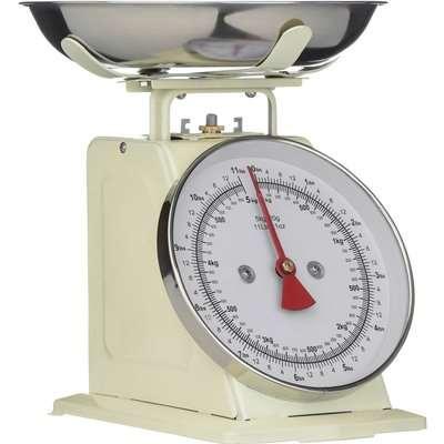 Cream Standing Kitchen Scale - 5kg