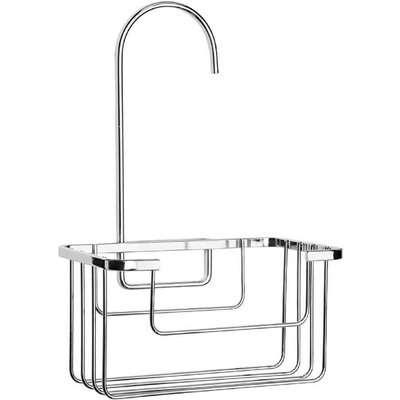 Croydex Hook-Over Riser Rail Basket/Shower Caddy - Chrome