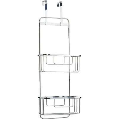 Croydex Hook-Over Storage Baskets/Shower Caddy - Chrome