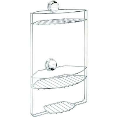 Croydex Stick N Lock 3 Tier Basket/Shower Caddy - Chrome