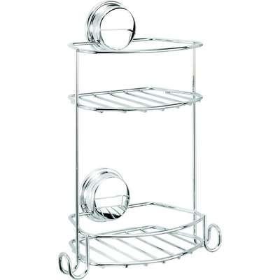 Croydex Stick N Lock Compact 2 Tier Basket/Shower Caddy