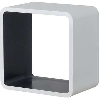 Cube Wall Shelf - White and Grey