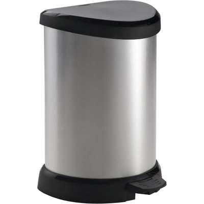 Curver Deco Pedal Bin - 20L - Silver