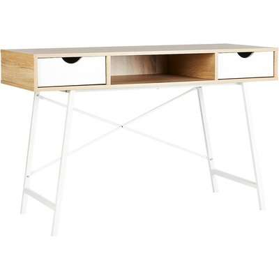Donna Desk with White Drawers