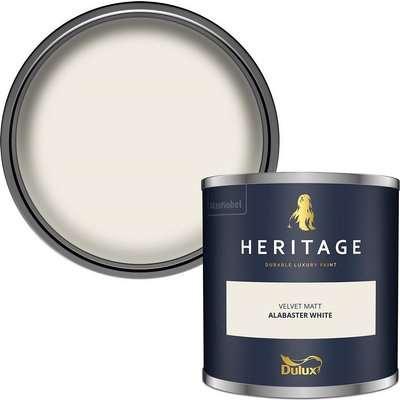 Dulux Heritage Colour Tester - Alabaster White - 125ml