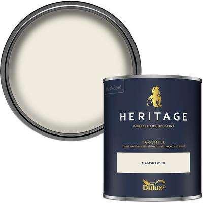 Dulux Heritage Eggshell Paint - Alabaster White - 750ml
