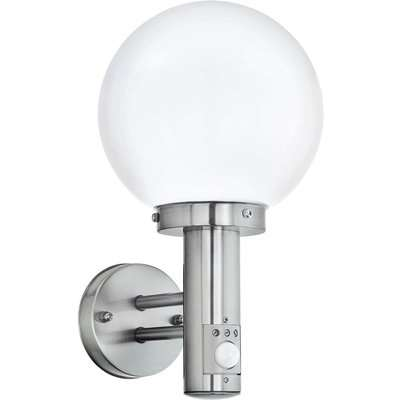 Eglo Nisia Outdoor Wall Light With PIR - Stainless Steel
