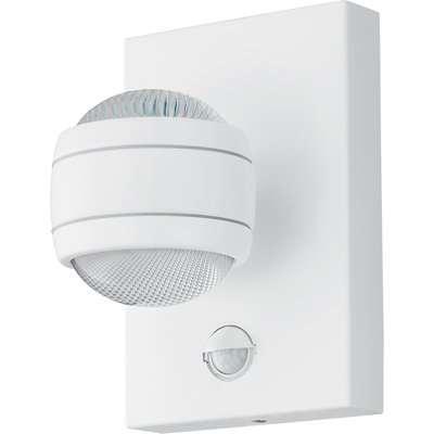 EGLO Sesimba 1 LED Sensor Outdoor Wall Light - White