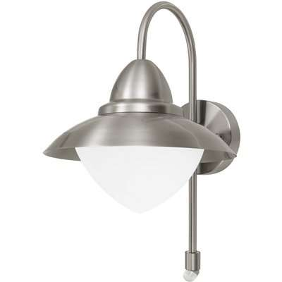 Eglo Sidney Outdoor Wall Light With PIR - Stainless Steel