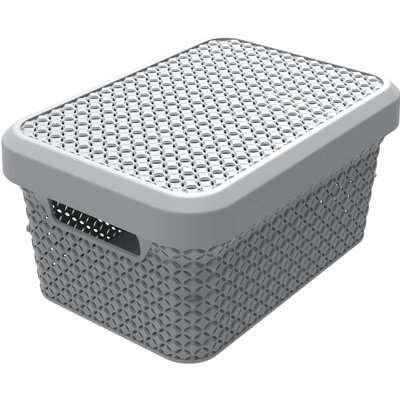 Ezy Storage Mode 5L Storage Basket with Lid - Grey