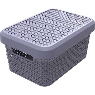 Ezy Storage Mode 5L Storage Basket with Lid - Lilac