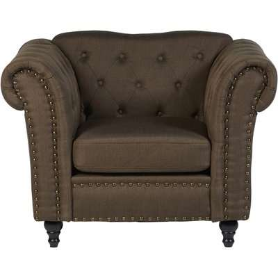 Fable Chesterfield Armchair - Natural