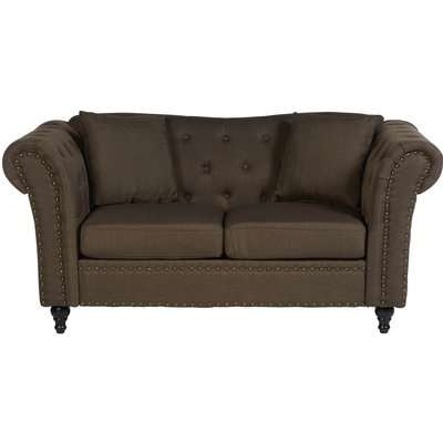 Fable 2 Seat Chesterfield Sofa - Natural