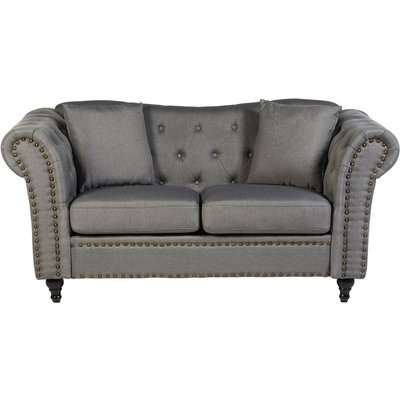 Fable 2 Seat Chesterfield Sofa - Grey