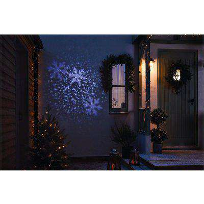 Falling Snowflake Outdoor LED Christmas Projector