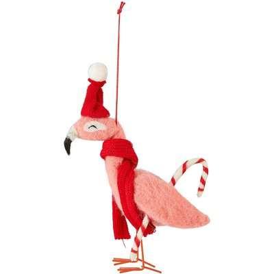 Felt Flamingo Hanging Christmas Tree Decoration