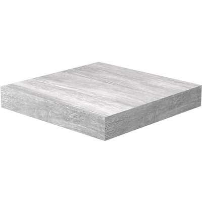 Flexi Storage Decorative Shelving Floating Shelf Grey Oak 250x38x250mm