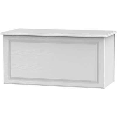Florence White Ash Blanket Box