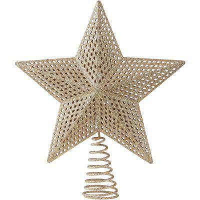 Gold Glitter 3D Christmas Tree Topper