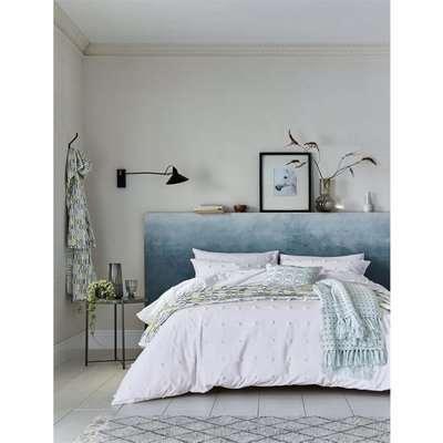 Helena Springfield Copenhagen Woven Spot Duvet Cover - King - White