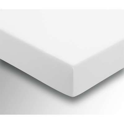 Helena Springfield Plain Dye 36cm Deep Fitted Sheet - Super King - White