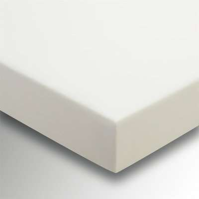 Helena Springfield Plain Dyed 36cm Deep Fitted Sheet - King - Ivory