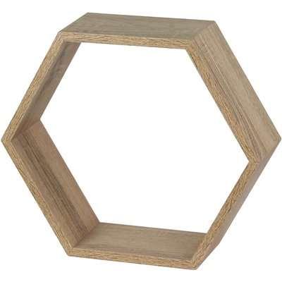 Hexagon Wall Shelf - Sanoma Oak