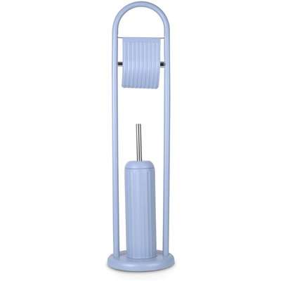 Home Design Linea Toilet Brush & Roll Holder Set - Blue