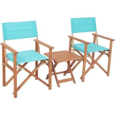 Homebase Directors Chair Bistro Set - Blue