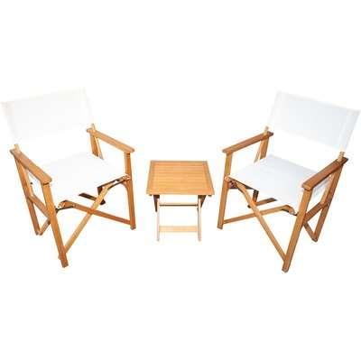 Homebase Directors Chair Bistro Set - Natural