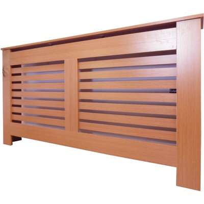 Horizontal Oak Radiator Cover - Large