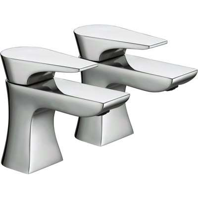 Hourglass Bath Taps - Chrome