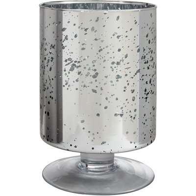 Hurricane Jar Candle Holder - Silver Mercury