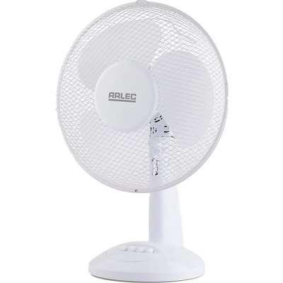 12 Inch Plastic Desk Fan - White
