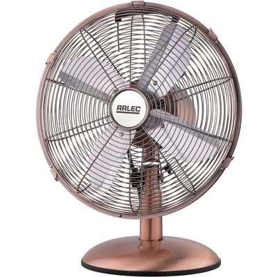 12 Inch Retro Metal Desk Fan - Copper