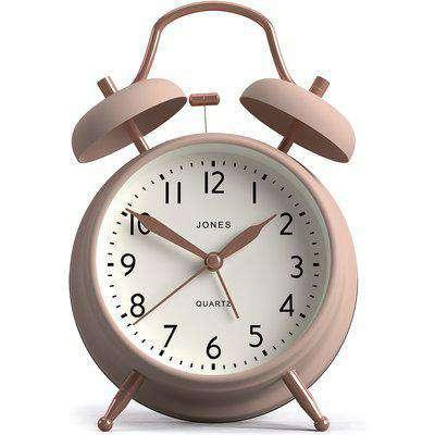 Jones Bell Alarm Clock - Blush & Copper