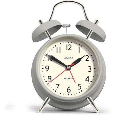 Jones Rise and Shine Alarm Clock - Grey