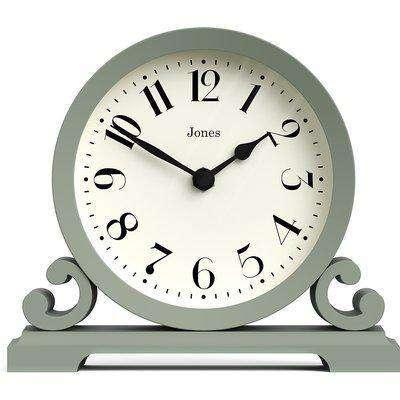 Jones Saloon Mantel Clock - Sage