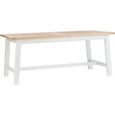 Kempton 6 Seat Dining Table - Oak & Stone