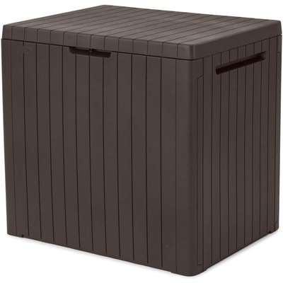 Keter City Outdoor Garden Storage Box 113L - Brown