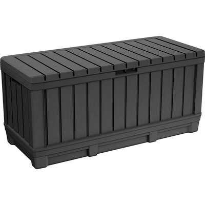 Keter Kentwood Outdoor Garden Storage Box 350L - Graphite