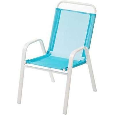 Homebase Kids Metal Stacking Chair - Blue