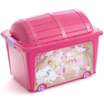Kids Treasure Toy Box - Pink