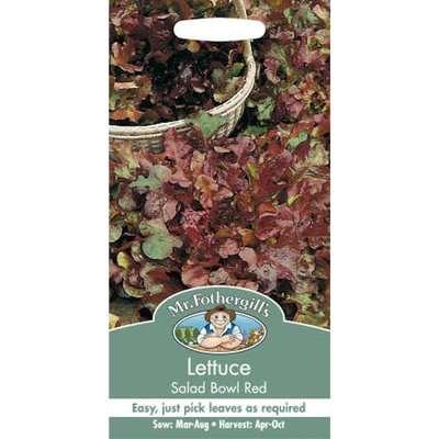 Mr. Fothergill's Lettuce Salad Bowl Red Seeds