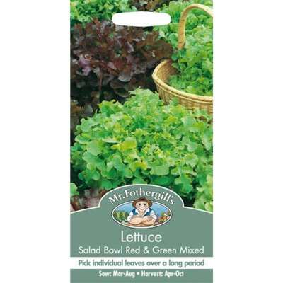 Mr. Fothergill's Lettuce Salad Bowl Seeds - Red And Green