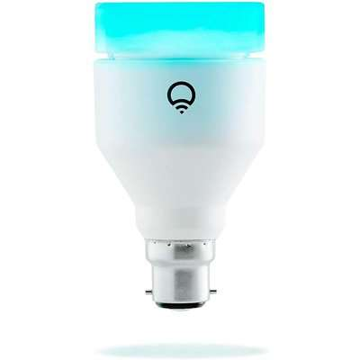 LIFX + (B22) Wi-Fi Smart LED Light Bulb with Infrared for Night Vision