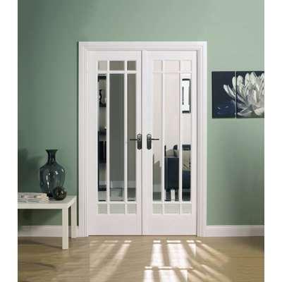 Manhattan Internal Glazed Primed White Room Divider - 1246 x 2031mm