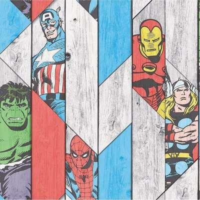 Marvel Kids Smooth Multi Coloured Wallpaper