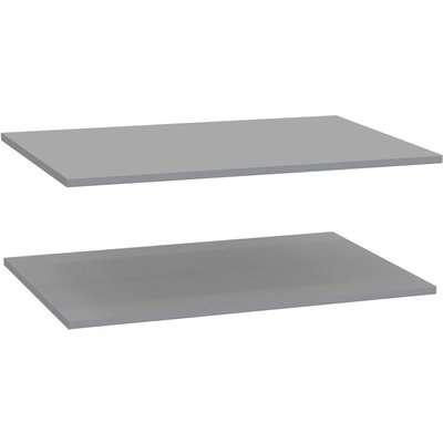 Modular Bedroom Double Wardrobe Shelf - Grey x 2